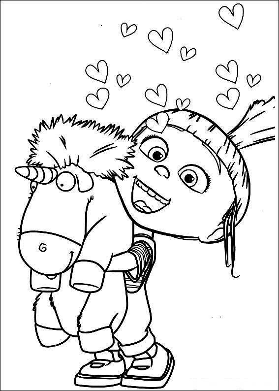 Pobarvanke za otroke minioni porod - Minion a imprimer ...